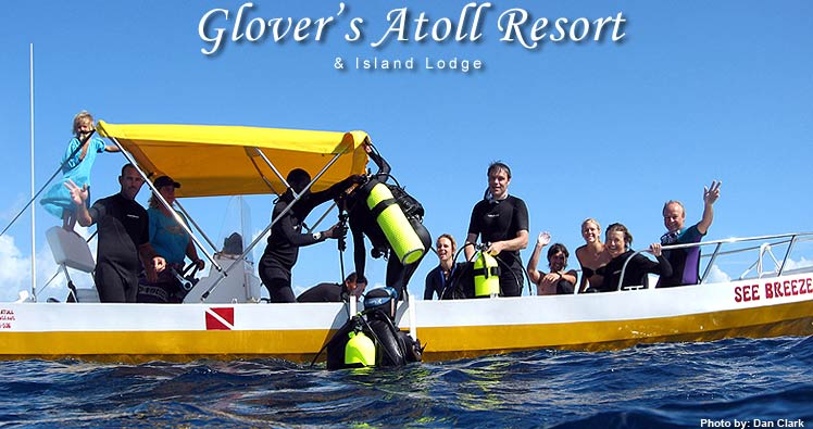 Glovers Reef, Glovers Atoll, Diving, Snorkeling, Camping, Cabin, Accomodations